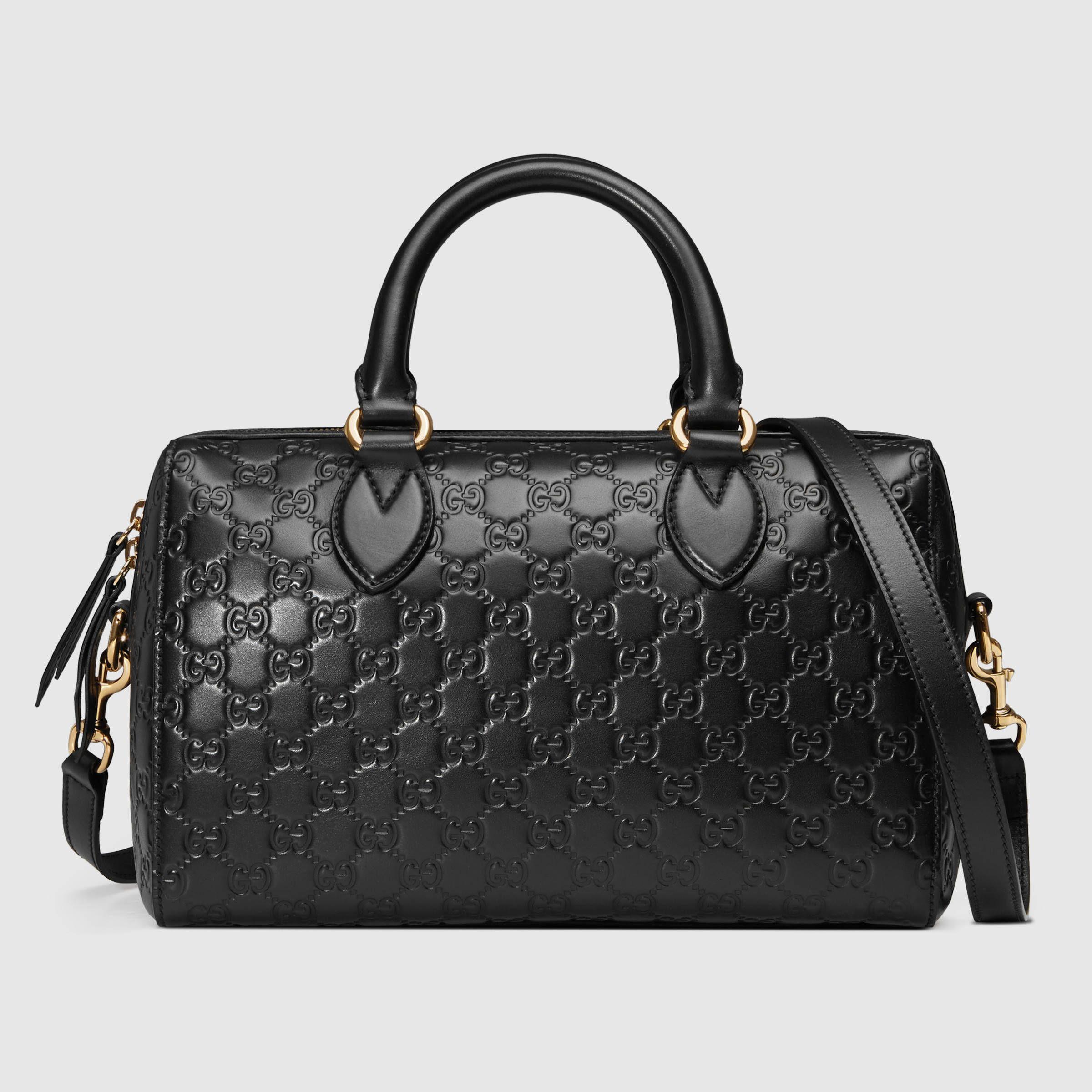 ba6a6853850b Soft Gucci Signature top handle bag - Gucci Women's Top Handles & Boston  Bags 453573DMT1G1000