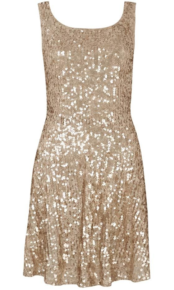 Primark AW12 - gold sequin skater dress
