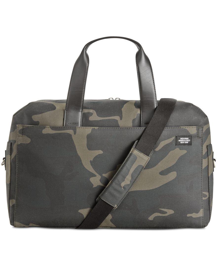 Jack Spade Men S Camo Overnight Bag