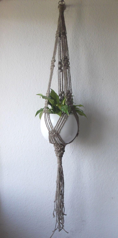 twine macrame plant hanger indoor plant holder hanging planter
