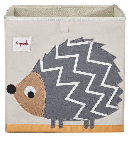 3 Sprouts Hedgehog Storage Box Nursery Fabric