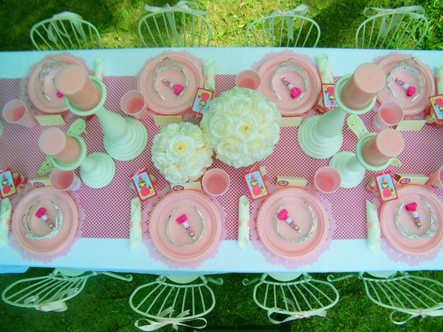 Princess Birthday Party Table Setting