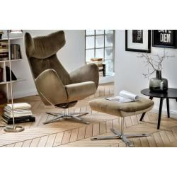 Photo of Candy, Cooper armchair incl. Stool and rocker function, velvet olive,