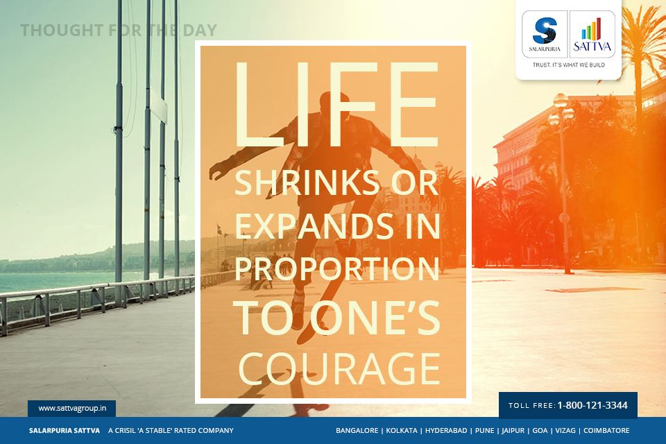Salarpuriasattva Thoughtfortheday Life Shrinks Or Expands In