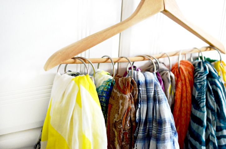 How To Organize Your Scarf Collection Scarf Organization Diy