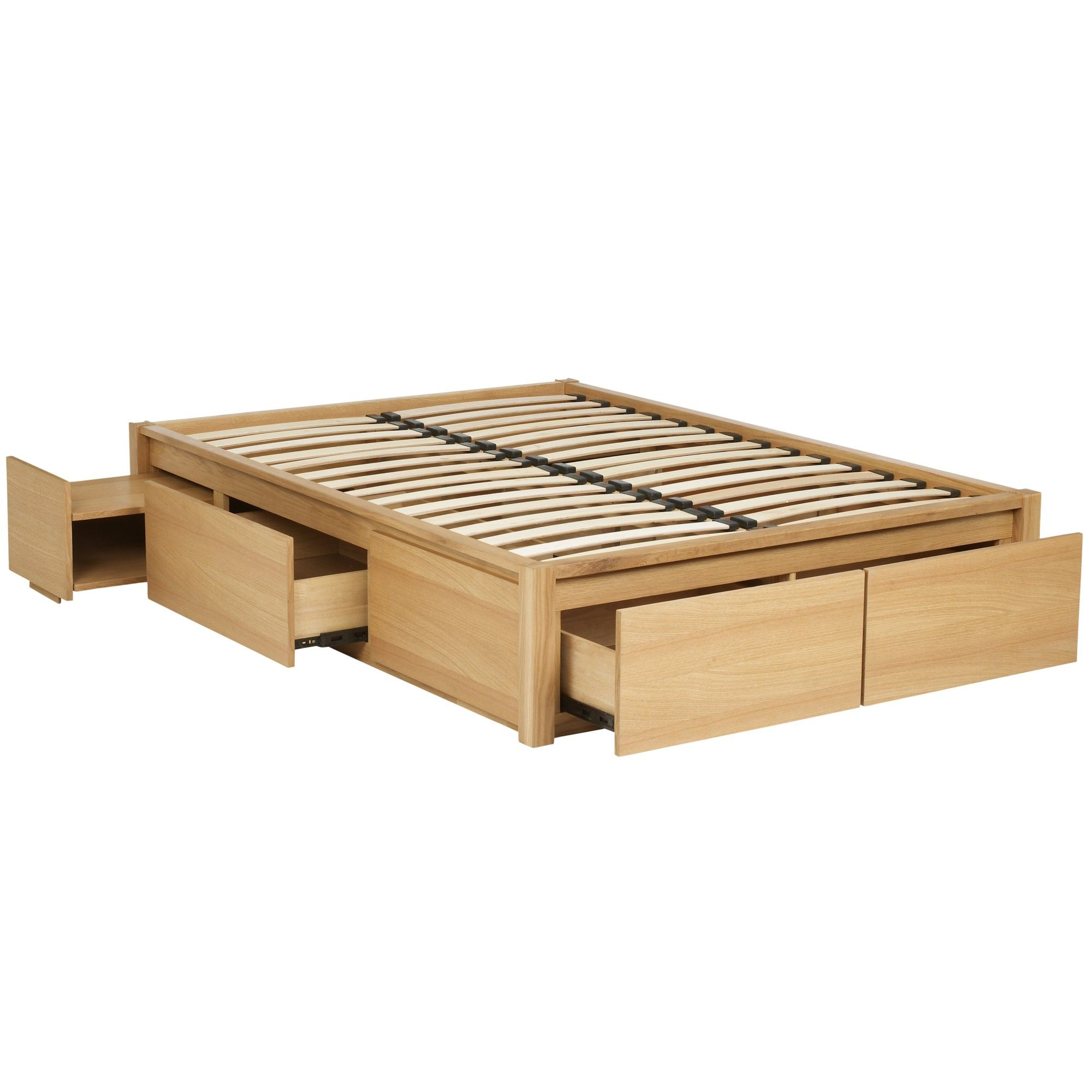 Platform bed with storage drawers. Picture only, no