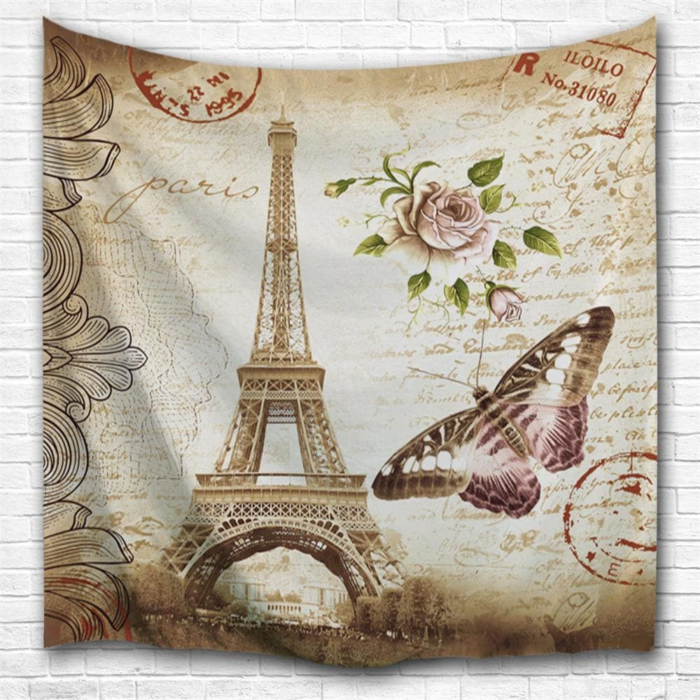 Butterfly tower 3d printing home wall hanging tapestry for decoration multicolor a w230cmxl180cm