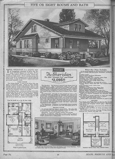 Sears Modern Home The Sheridan Craftsman House Plans Vintage House Plans Craftsman Style Bungalow