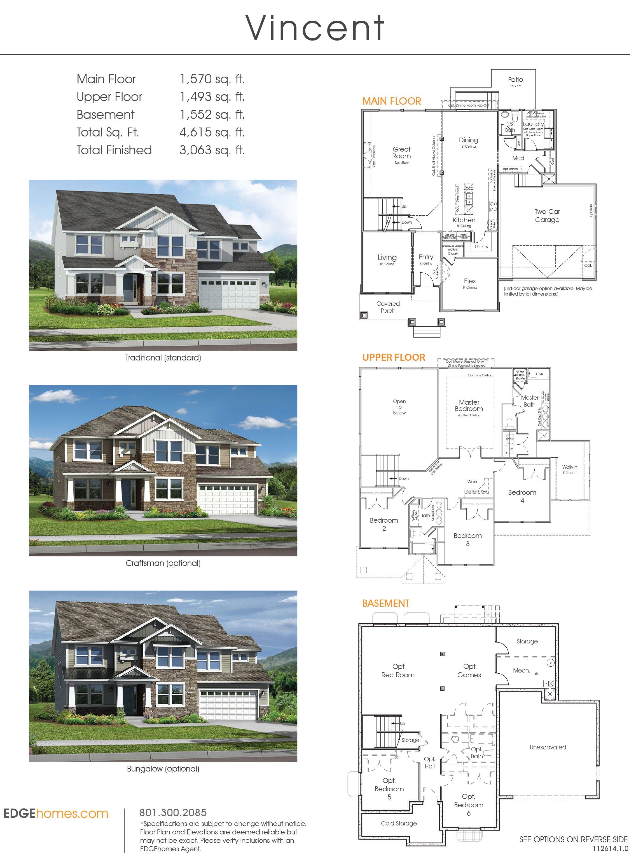 Vincent floorplan - Canyon Hills Model Home - Lehi, Ut 84043 ... on plans for pool, plans for apartment complexes, plans for construction, plans for garages, plans for gates, plans for furniture,