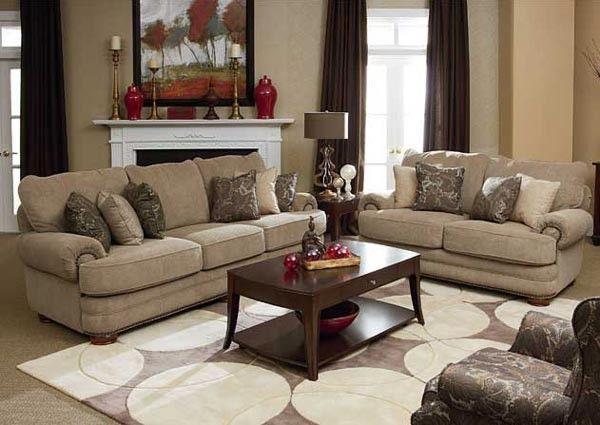 Lane Furniture Stanton 2 Piece Sofa Set In Tan 863 20 30
