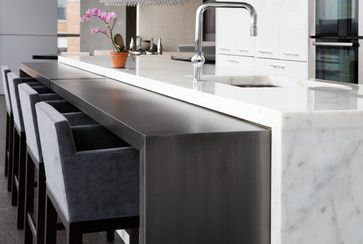 Blackened Steel Kitchen Console Modern Kitchen