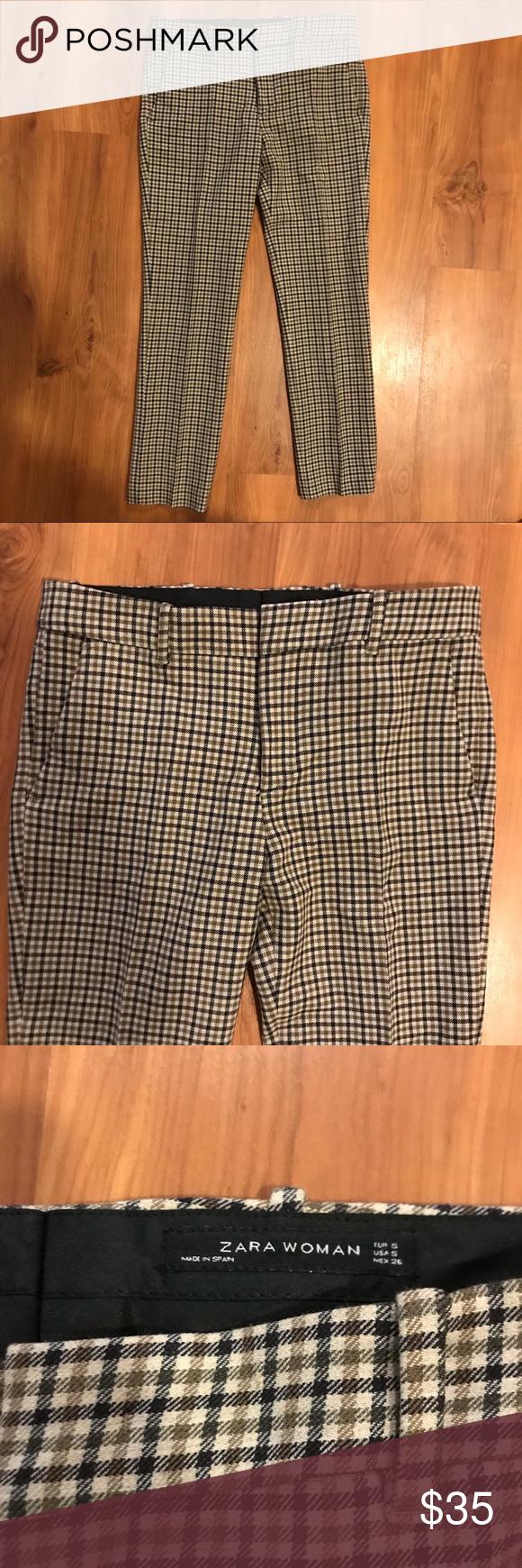 b2c03802 Zara Women Plaid Pants • Size S Zara Women Plaid Pants • Size S ...