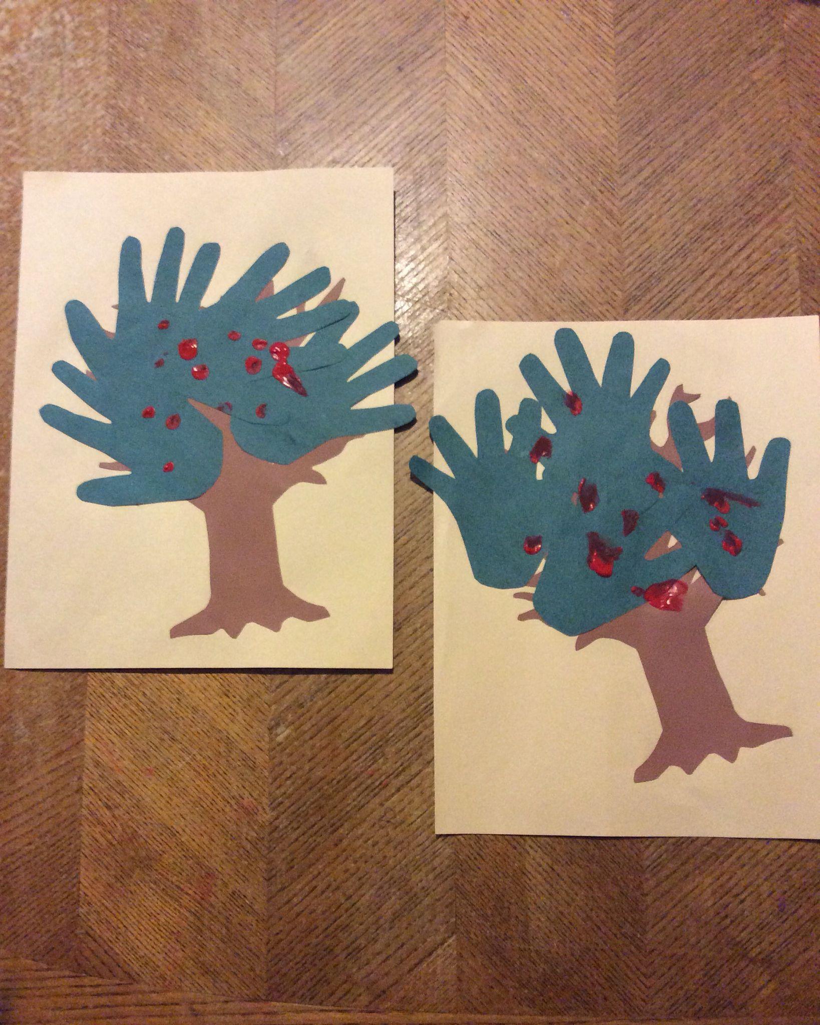 Hand Print Apple Tree