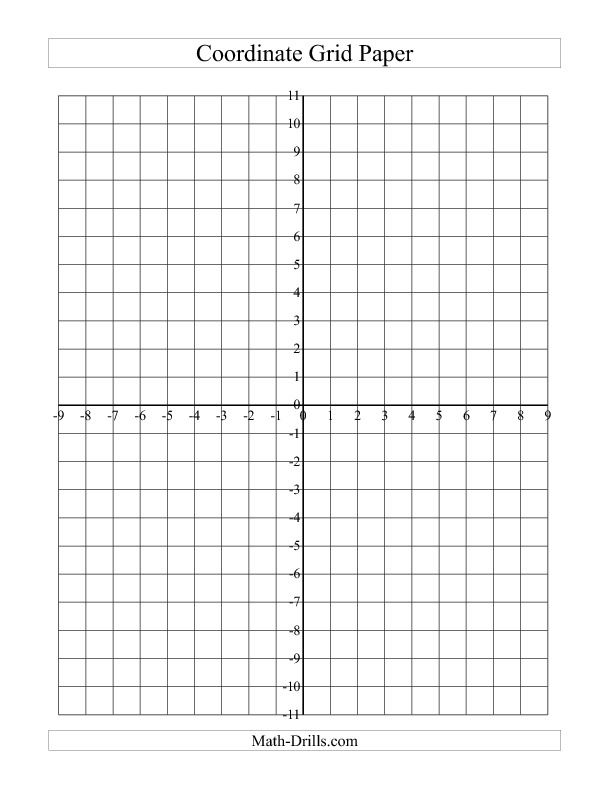 Coordinate Grid Paper A  Math    Math Teaching