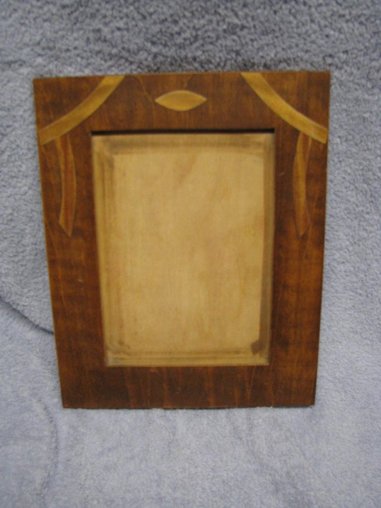 Antique Art Deco Wooden Inlay Picture Frame No Glass | Art Deco ...