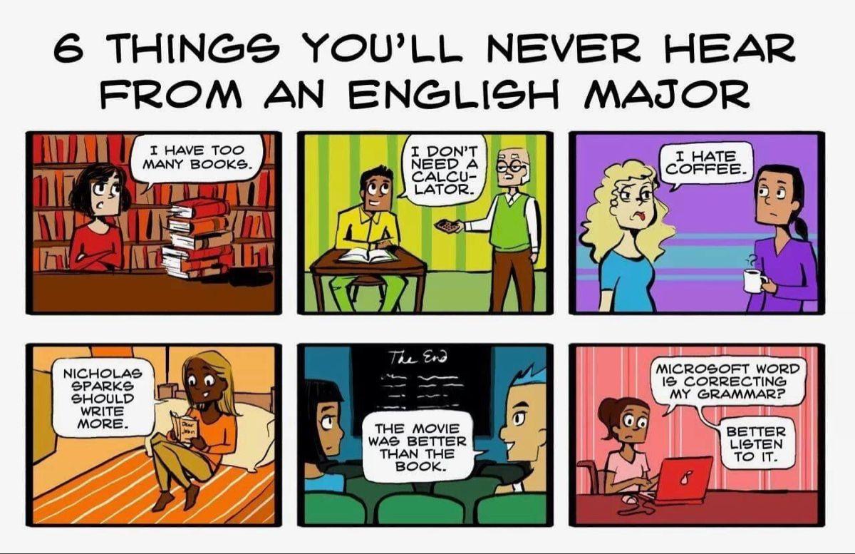 English Majors English Teacher Humor English Major Humor English Major