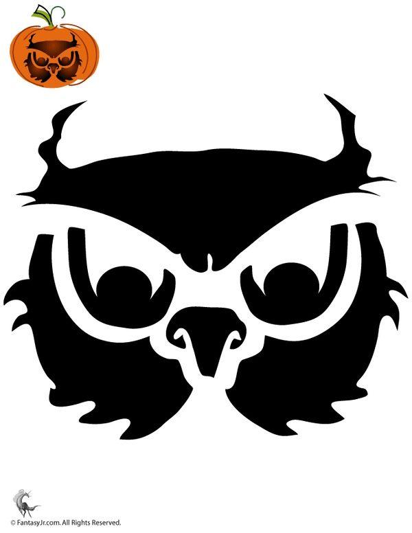 Owl Stencil for #Halloween #pumpkin #carving Crafty Crafty - halloween template
