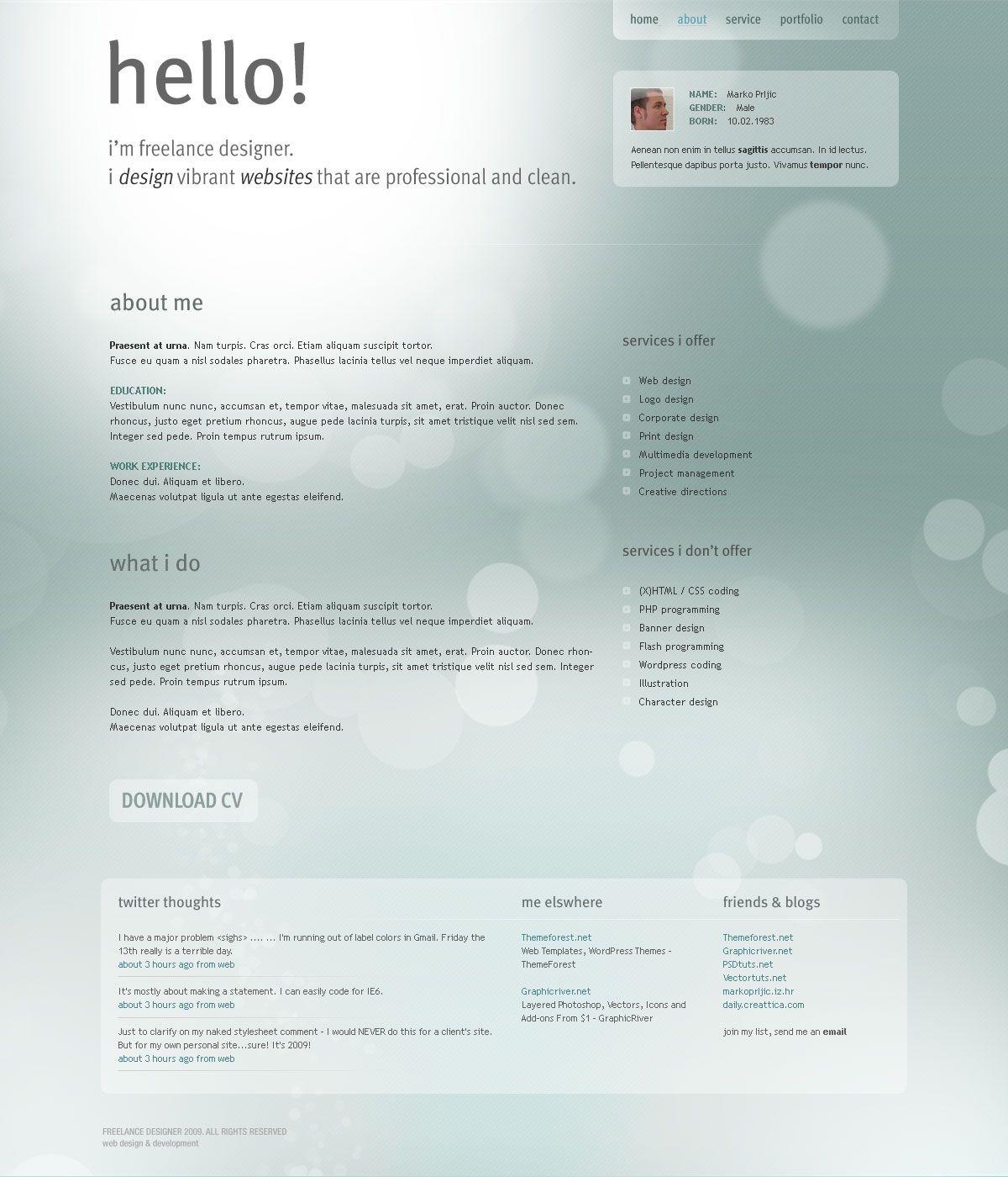 My Portfolio Template: Personal Portfolio Template (With
