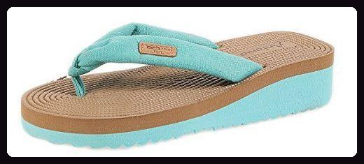 Desigual Shoes_Bio 3, Damen Zehentrenner, Türkis (5024 Turquesa Palo), 37 EU (4 UK)