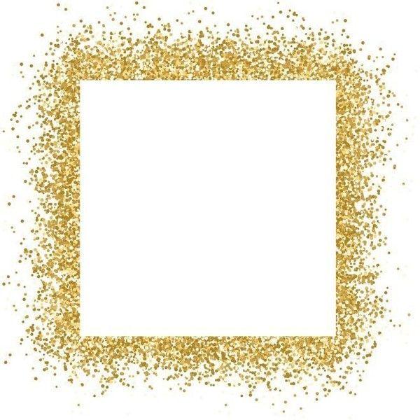 Free Vector Gold Glitter Frame Sparkles On White