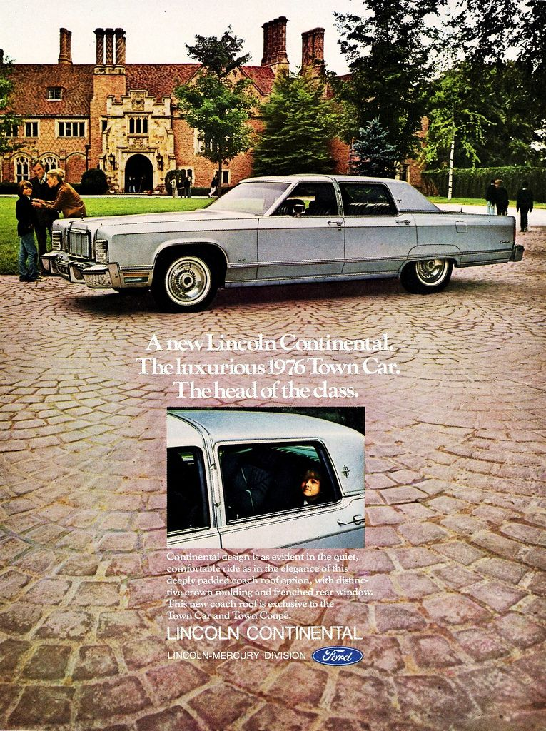 1976 Lincoln Continental Town Car With Optional Coach Roof Lincoln Cars Lincoln Continental Lincoln Town Car