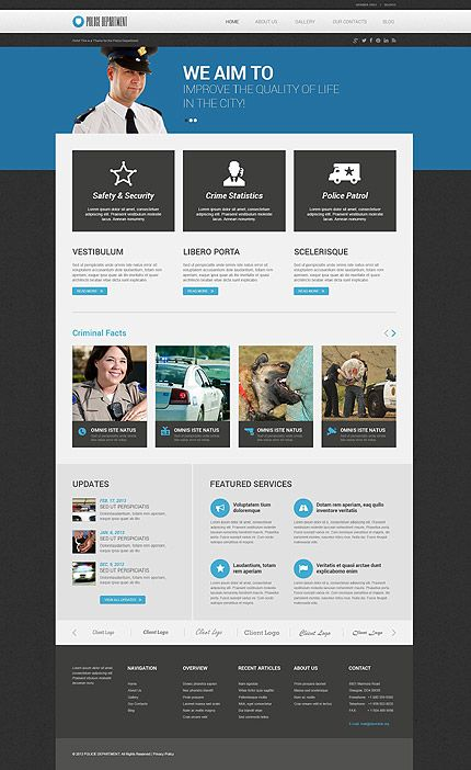 Police department wordpress template themes business police department wordpress template themes business responsive accmission Images