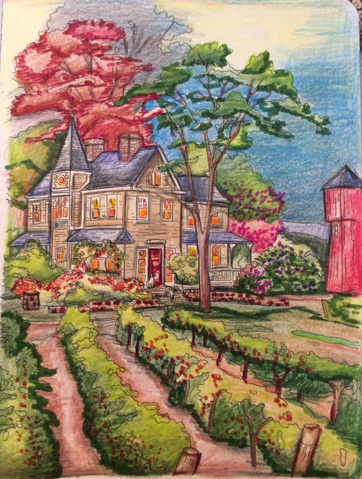 - Amazon.com: Posh Adult Coloring Book: Thomas Kinkade Designs For