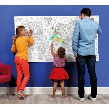 Omy väritysjuliste Atlas 180 x 100 cm