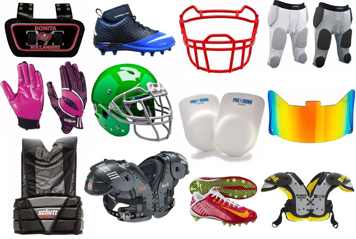 909f54be4f7 A List of American Football Protective Gear and Equipment