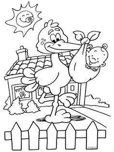 Kleurplaten Baby Born.Kleurplaat Baby Geboren Line Drawings And Pictures To Draw Baby