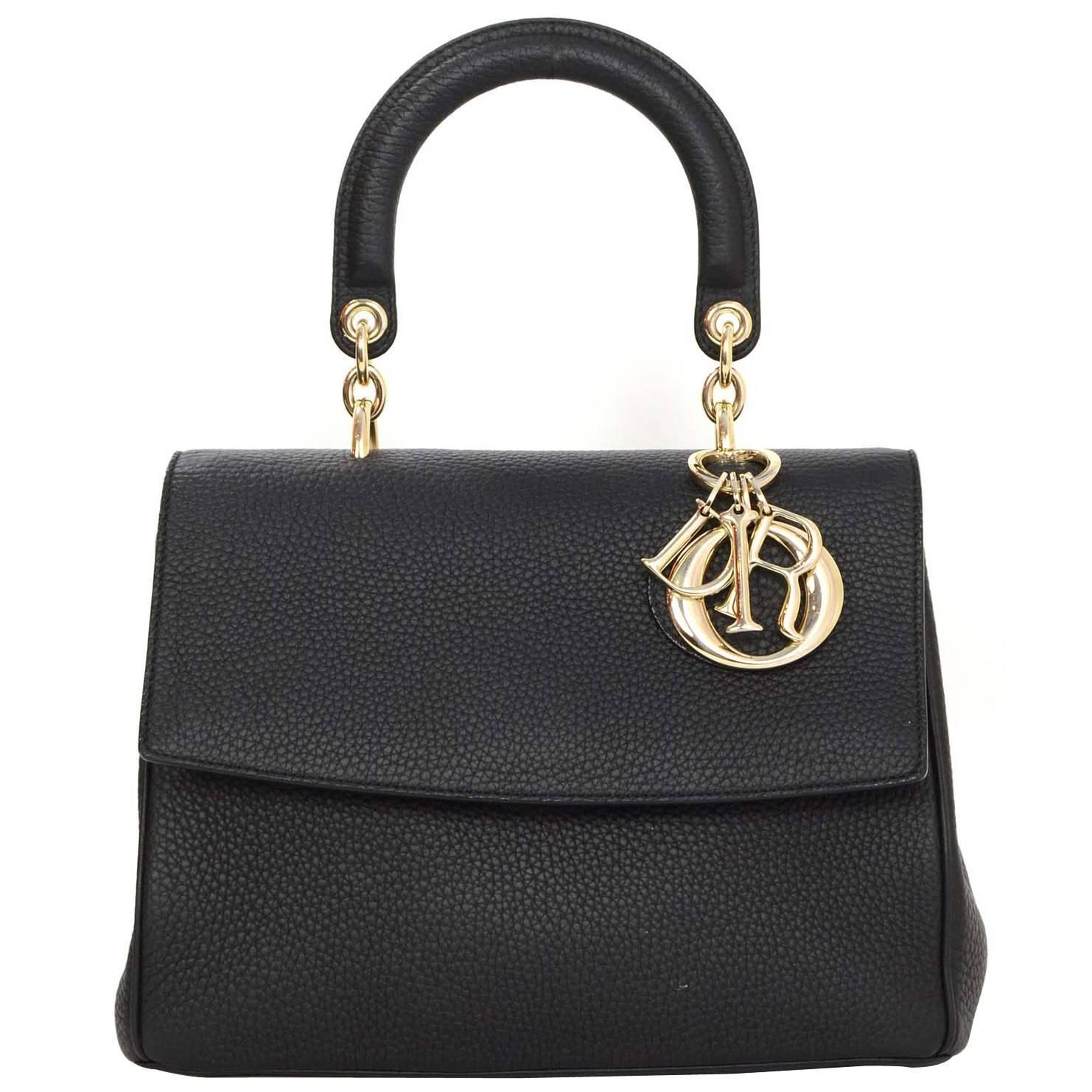 Christian Dior Black Leather Small Be Dior Bag GHW rt.  4 f2e34dcd7564b