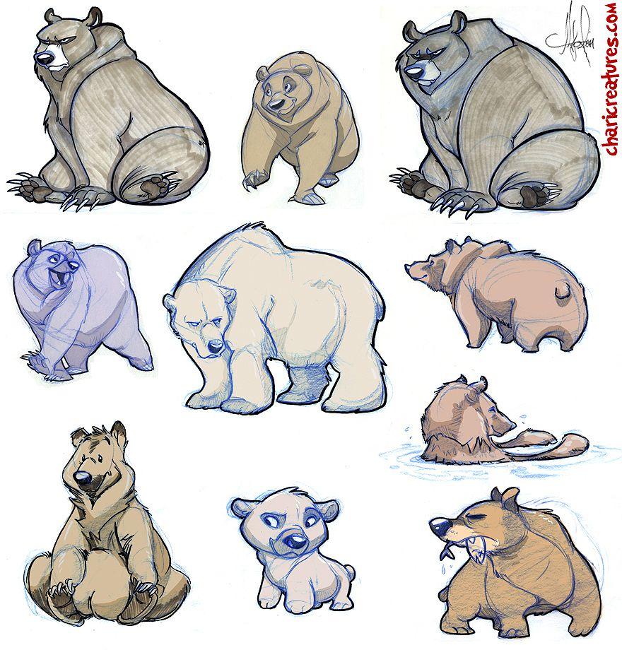 Genevieve Tsai © | Curso dibujo 6 | Pinterest | Osos, Dibujo y Animales