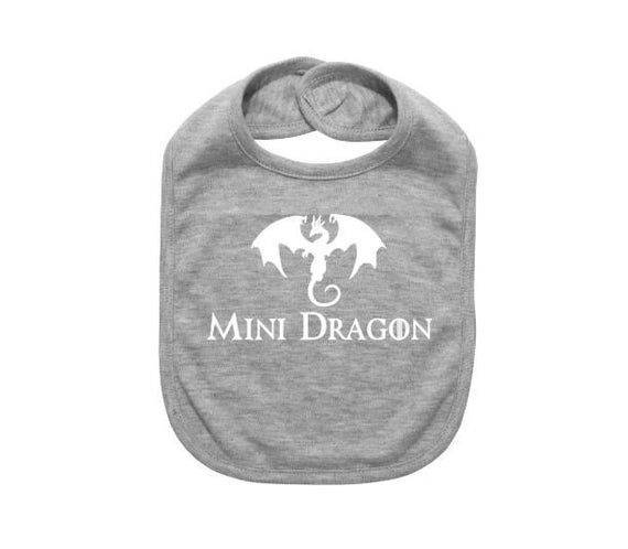 Mini Dragon Bib, Baby Shower Gift, Mini Dragon, Gift For Baby, Game Of Thrones, Funny Newborn Bib, I #bibsforbaby