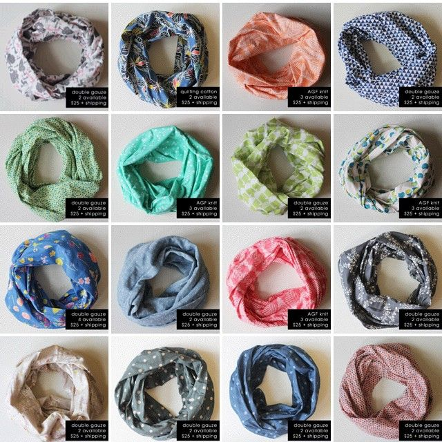 sewing: double gauze infinity scarf tutorial