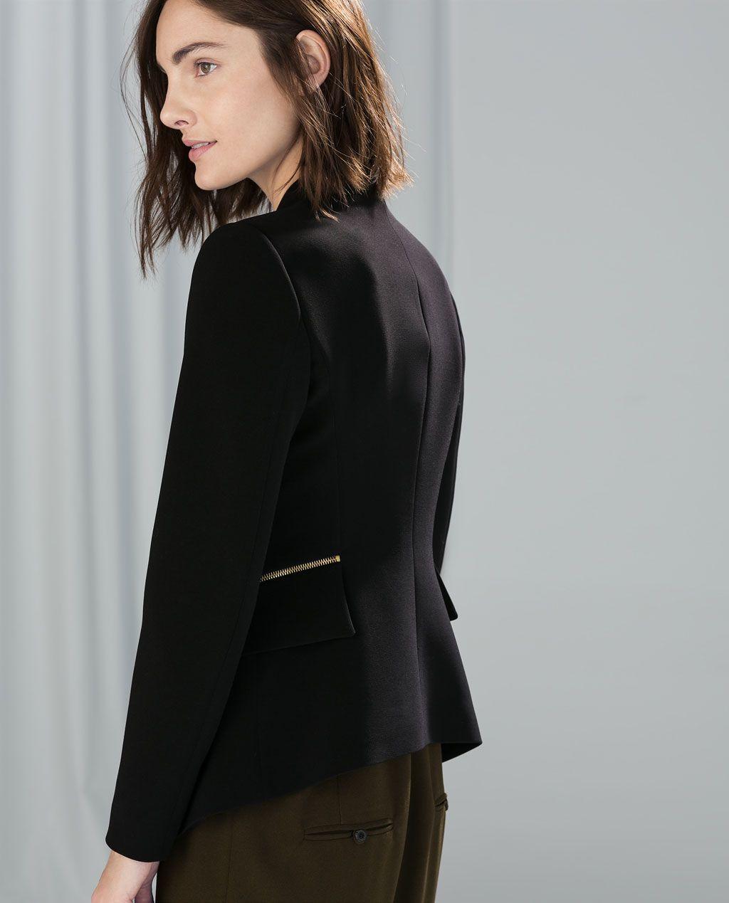 Image 4 of BLAZER WITH ZIPS from Zara