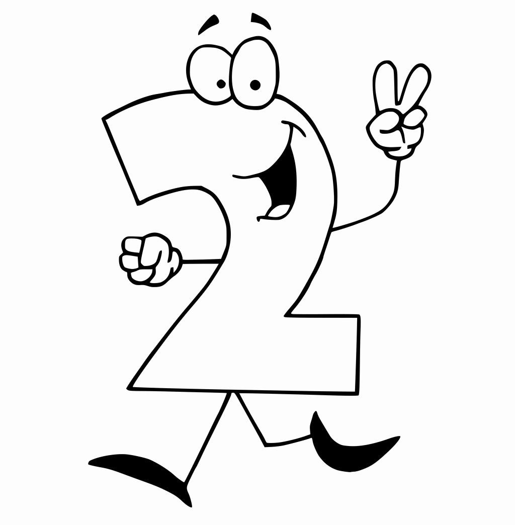 32 Number One Coloring Page In