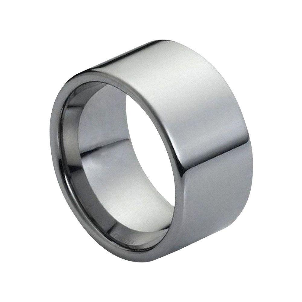 Tungsten Wedding Band Silver Ring Mens Wedding Band 12mm Etsy Rings Mens Wedding Bands Tungsten Carbide Wedding Bands Tungsten Wedding Bands