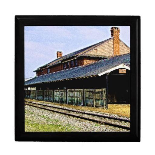 ceramic tile gift box featuring Historic York Pennsylvania Railroad ...