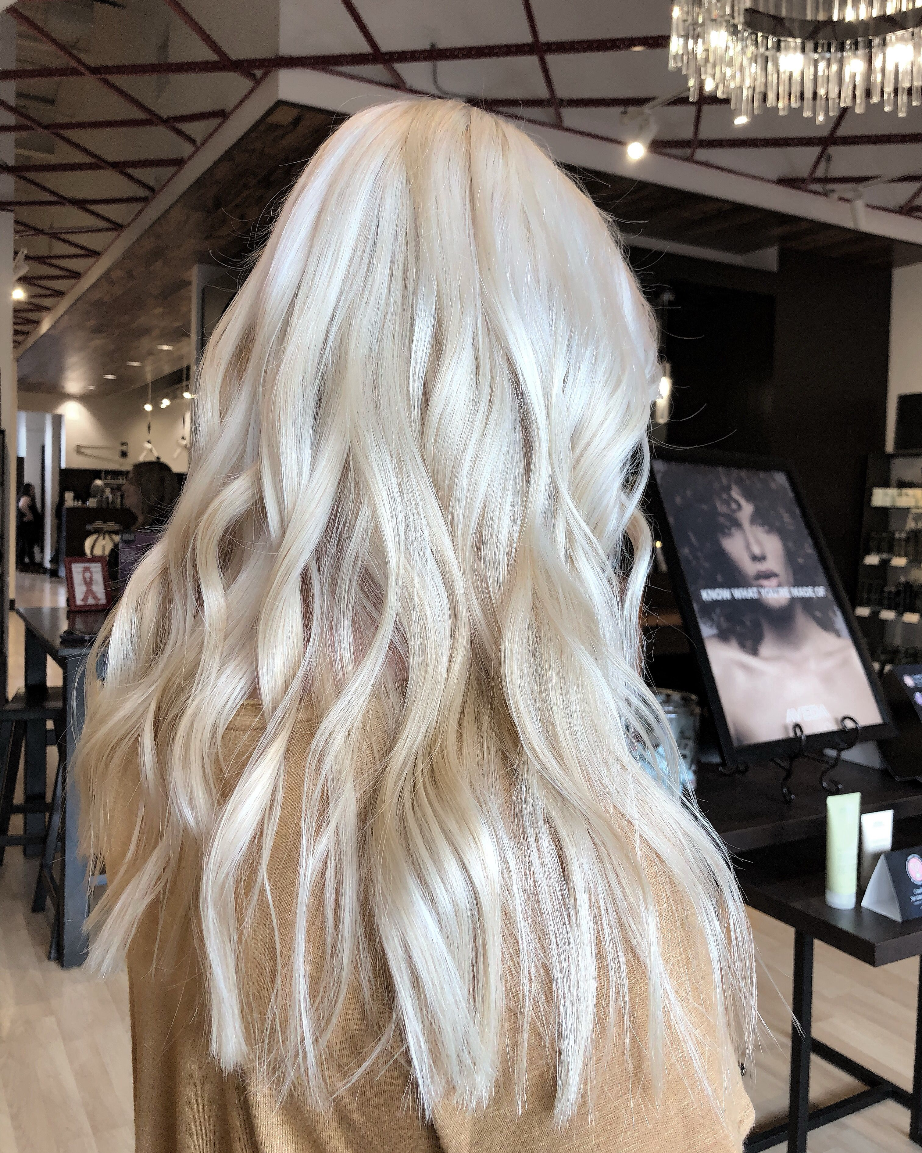 Platinum Blonde Waves Wavy Long Hair In 2019 Blonde Hair