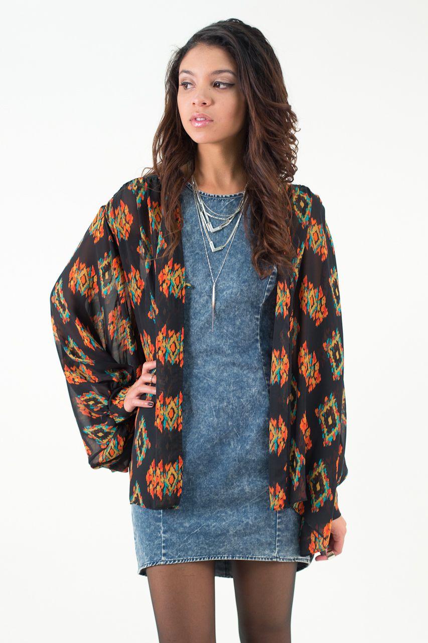 Dragon lady kimono nectar clothing long sleeve kimono