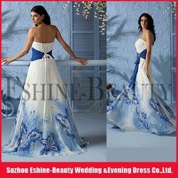 white and blue plus size wedding dress | Beautiful a-line ...