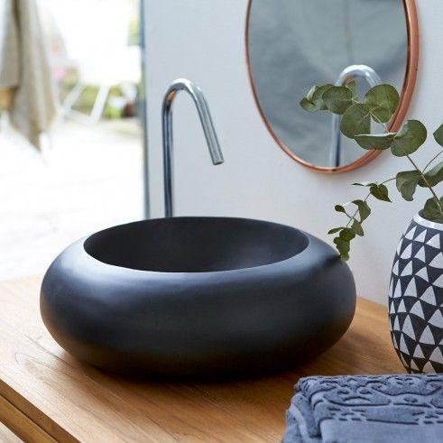 Waschbecken Terrazzo Acqua schwarz Bad Pinterest Waschtisch