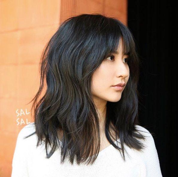 23++ Thin hair lobs with bangs ideas in 2021