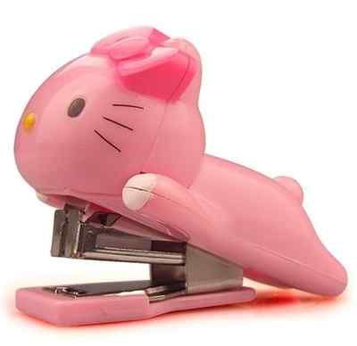 Sanrio Hello Kitty Mini Stapler Office Supply Red or Pink