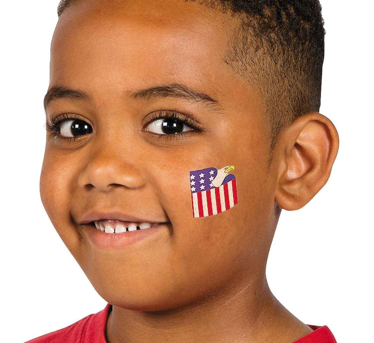 Glitter Patriotic Temporary Tattoos 6 dz >>> You can get