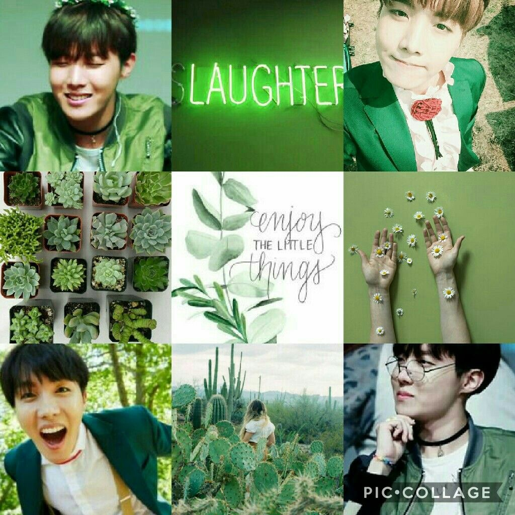 BTS aesthetics - green with Jhope