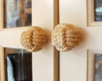 Hand Tied Rope Monkeyu0027s Fist Drawer And Cabinet Knobs Handcrafted By  Skipjack!