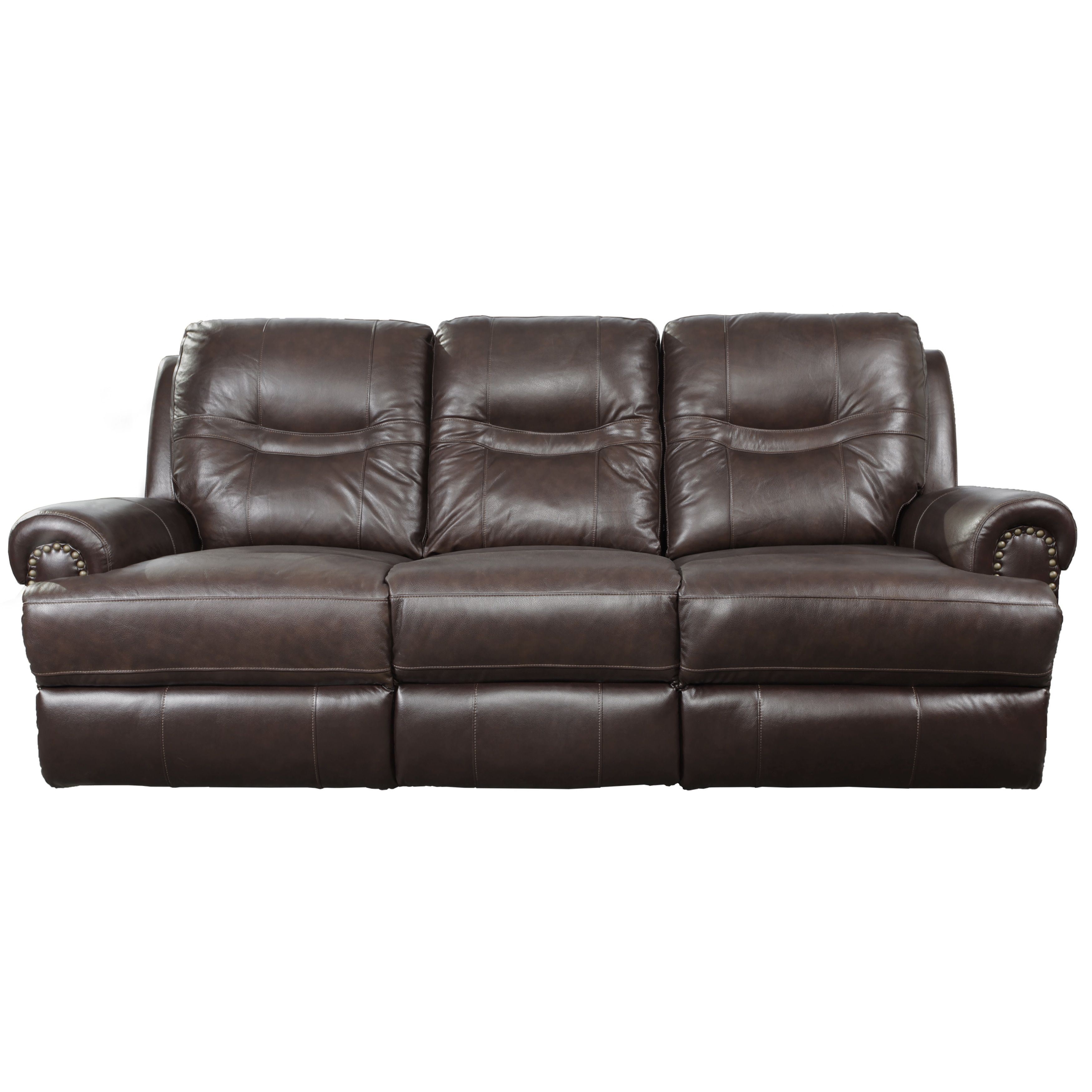 Windemere Brown Top Grain Leather Reclining Sofa