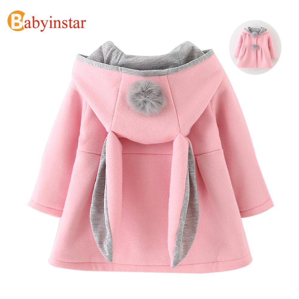 Find More Jackets & Coats Information about Cute Rabbit Ear Hooded ...