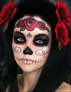 Resultado De Imagen Para Pintar Caras De Catrinas Face Painting